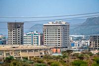 Buildings under construction, Mekele, Ethiopia. Mekele, Ethiopia.