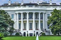 Presidential White House Constitution Ave Washington DC.