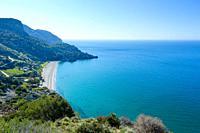Natural Site Cliffs of Maro Cerro-Gordo, Nerja, Málaga, Andalusia, Spain, Europe.