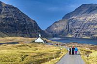 Church at Saksun, Streymoy, Faroe Islands, Denmark.