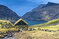 The old farm, Saksun, Streymoy, Faroe Islands, Denmark.