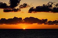 Sun Rise Virginia Beach Virginia.