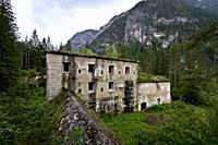 The Austro-Hungarian fort of Landro. Landro Valley, Bolzano province, Trentino Alto-Adige, Italy, Europe.