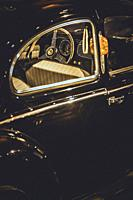 Detail of a vintage car.