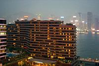 Intercontinental hotel at Victoria harbour, Hong Kong, April 2008.