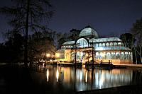 Palacio de Cristal in El Retiro Park, Madrid.