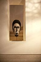 African Mask in Alcove.