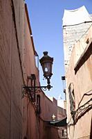 Narrow Alley in Medina, Marrakech.