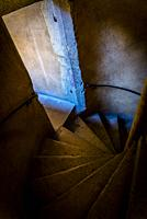 Spiral stairway in a house from the 16th century, Lyon, France.