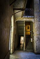 Traboule - a passageway in an old building, Lyon, France.