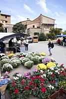 Deia market, Majorca, Spain.