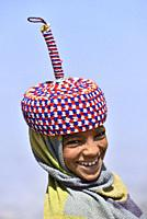 Ethiopia, Amhara region, World Heritage Site, Simien Mountains National Park, Young shepherd.