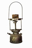 Vintage Hurricane Lamp. Paraffin, Kerosene lantern Isolated On White Background.