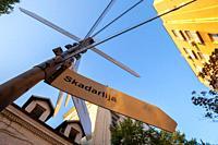Sign for Skadarlija, Belgrade's bohemian district.