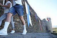 Spain. Zamora, Puebla de Sanabria. Mercado Medieval de Puebla de Sanabria, del 15 al 18 de Agosto 2019. Fiesta de Interés Turístico Regional. Historic...