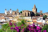 Caceres old town skyline. Extremadura. Spain