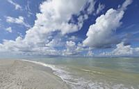 Blind Pass Beach on the Gulf of Mexico on Sanibel Island Florida.