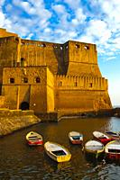 Castel dell´Ovo, Egg Castle, Naples city, Campania, Italy, Europe.