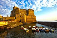 Castel dell´Ovo, Egg Castle, Naples city, Campania, Italy, Europe.