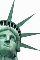 The Statue of Liberty is a colossal neoclassical sculpture on Liberty Island in New York City.