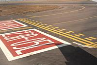 Landing strip and take-off at the Mexico City International Airport.