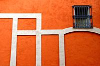 wall and window, Gracia district, Barcelona, ??Catalonia, Spain