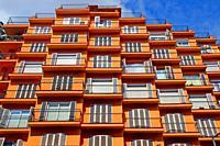 Apartment building, Gracia district, Barcelona, ??Catalonia, Spain
