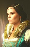 Power. Fashion style female portrait.