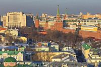 Cityscape, Kremlin, Moscow, Russia.