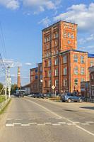 Vintage industrial building, Yuzha, Ivanovo region, Russia.