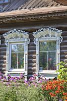 Rural house, Palekh, Ivanovo region, Russia.