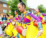 Billingham, north east England, UK. 10th August 2019. Dancers from China performing at the Billingham International festival of World Dance, now in it...