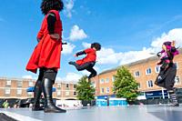 Billingham, north east England, UK. 10th August 2019. Dancers from Georgia performing at the Billingham International festival of World Dance, now in ...