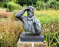 Statue of Antarctic explorer, Frank Wild, in his home town, Skelton, North Riding of Yorkshire, England. UK. Commander John Robert Francis Wild,(10 Ap...