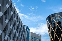 The Frederick Douglas Centre, Newcastle University. Newcastle Helix, Newcastle upon Tyne, England. UK. Newcastle Helix, a landmark 24-acre hybrid city...