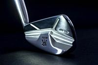 Golf Club Iron Miura MC 501 Illuminated on Black Background.