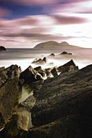 View looking out to the Great Blasket Island, Dingle Peninsula, County Kerry, Ireland.