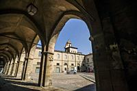 Piazza della Cittadella (Citadel Square), Upper City (Città Alta), Bergamo, Lombardy, Italy, Europe.
