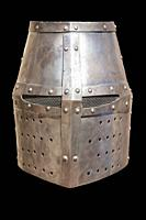 Christian flat full helmet, also used by moorish armies during Reconquista period, 11-13th Century.