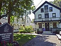 The Martha´s Vineyard Camp Meeting Association is a 34-acre National Historic Landmark. Founded by Methodists in an area known as Wesleyan Grove it wa...