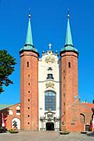 Gdansk, Pomeranian, Poland - June 19, 2019: The Cathedral of Oliwa in Gdansk - Poland.