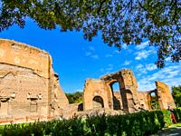Ruins of the Baths of Caracalla (Terme di Caracalla), Thermae Antoninianae , one of the most important baths of Rome at the time of the Roman Empire, ...