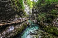 Vintgar Gorge, Bled, Upper Carniola, Slovenia, Europe.