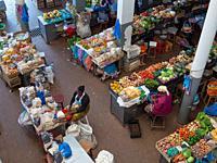 The market. Town of Assomada (Somada). Island of Santiago (Ilha de Santiago), Islands of Cape Verde in the equatorial Atlantic.