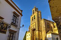 Gothic style Church of Santiago in Utrera, Sevilla province. Southern Andalusia, Spain. Europe.
