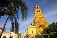 Gothic style Church of Santa María de la Mesa, Utrera. Sevilla province. Southern Andalusia, Spain. Europe.