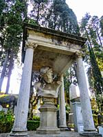 Non-Catholic Cemetery, Piramide Cestia Area, Rome, Lazio, Italy. This is the final resting-place of poets, painters, sculptors and authors. October 13...