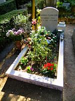 """Grave of Andrea Calogero Camilleri (Porto Empedocle September 6th 1925 â. """" Rome July 17th 2019), world famous Sicialian writer of the series Commissa..."""