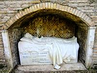 Grave of Elsbeth M. Wegener Passarge, 1884 / June 5th 1902, the Monument was commissioned by her fiance the sculptor Ferdinand Seeboeck (1864-1953), N...