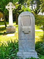Graves of John Keats and Joseph Severn in the Non-Catholic Cemetery, Rome, Lazio, Italy.